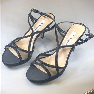 (p251) Nina Blossom Strappy Sandals 7M